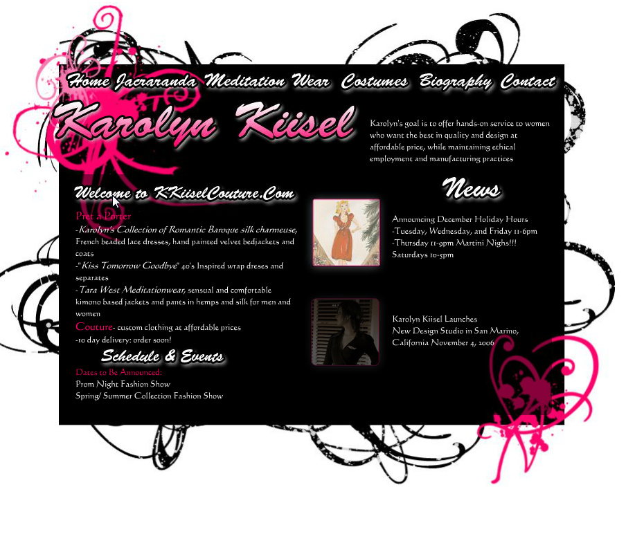 KarolynK Kiisel Couture Site